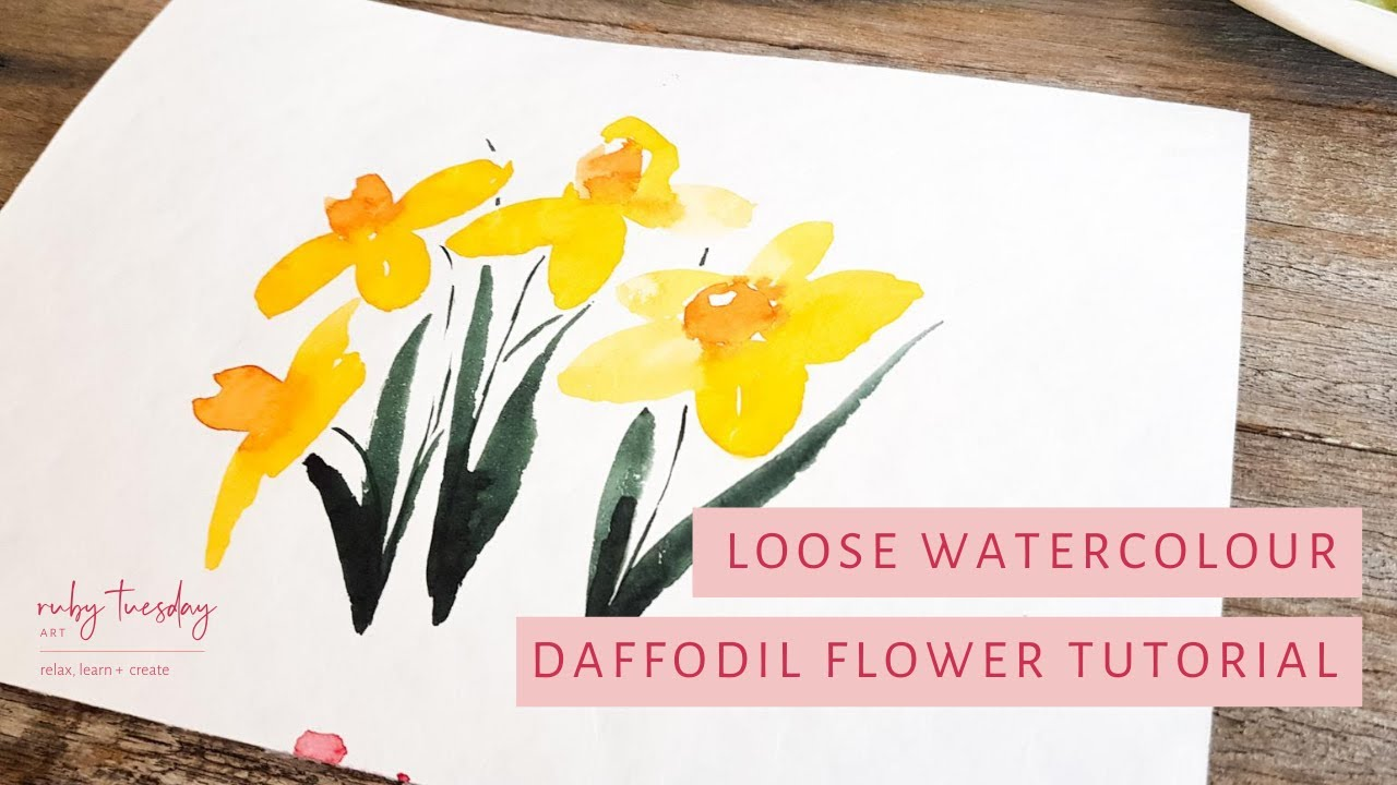 Watercolour for Beginners: daffodils tutorial