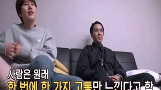 Mino's hair pull by Hodong and his leg bites by Soo geun (POOR MINO..LOL) NJTTW 3 EP4