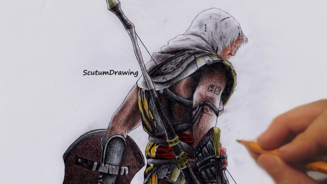 Bayek Speed Drawing How To Draw Assassin S Creed Origins