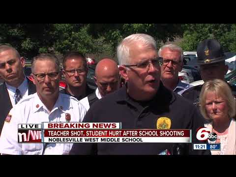 Press conference on Noblesville West Middle School shooting from law enforcement
