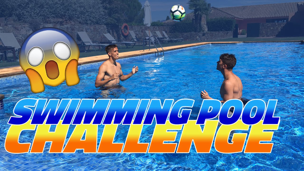 Bar a b swimming pool challenge youtube for Swimming pool show barcelona