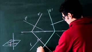 Sistema diédrico  Perpendicularidad, ejercicio trazar recta perpendicular a otras dos rectas dadas