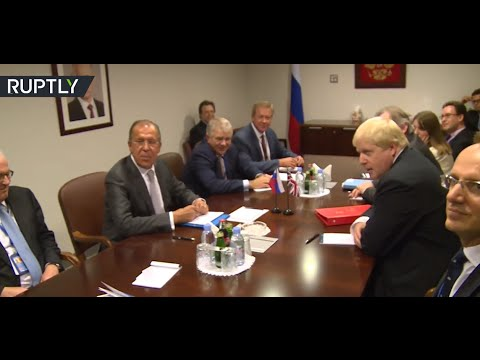 'We can't really get rid of them, right?' Lavrov on media at the 1st meeting w/ Boris Johnson