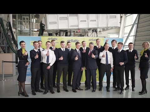 First Day of Studies For airBaltic Training Pilot Academy