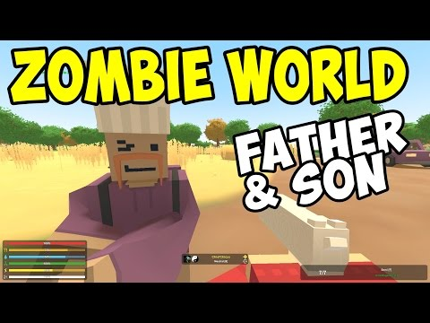 UNTURNED - Father & Son in Zombie World! - Part 2 (Unturned Multiplayer Co-op)