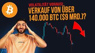ACHTUNG: BITCOIN Abverkauf durch 140.000 BTC Inflation?! Die Gründe & Folgen! Crypto Deutsch