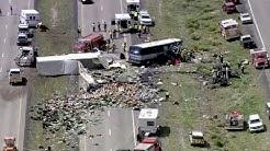 Survivor describes horror in New Mexico bus and semi-truck crash