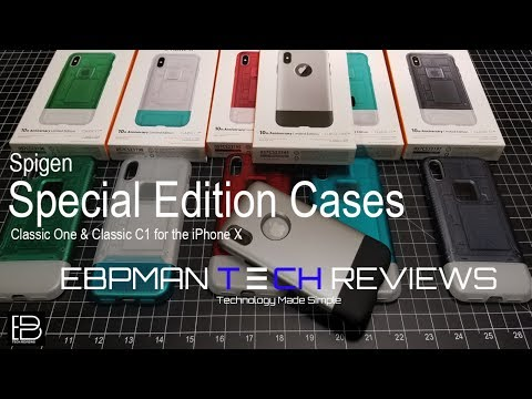 Spigen Classic One & C1 iMac Special Edition Apple iPhone X Case Reviews