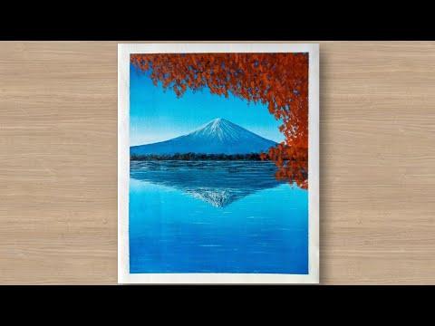 Landscape Mountain Acrylic painting tutorial  | Daily Art Challenge day #12 | Umar Hasan Arts