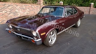 1971 Chevorlet Nova black cherry for sale Old Town Automobile in Maryland