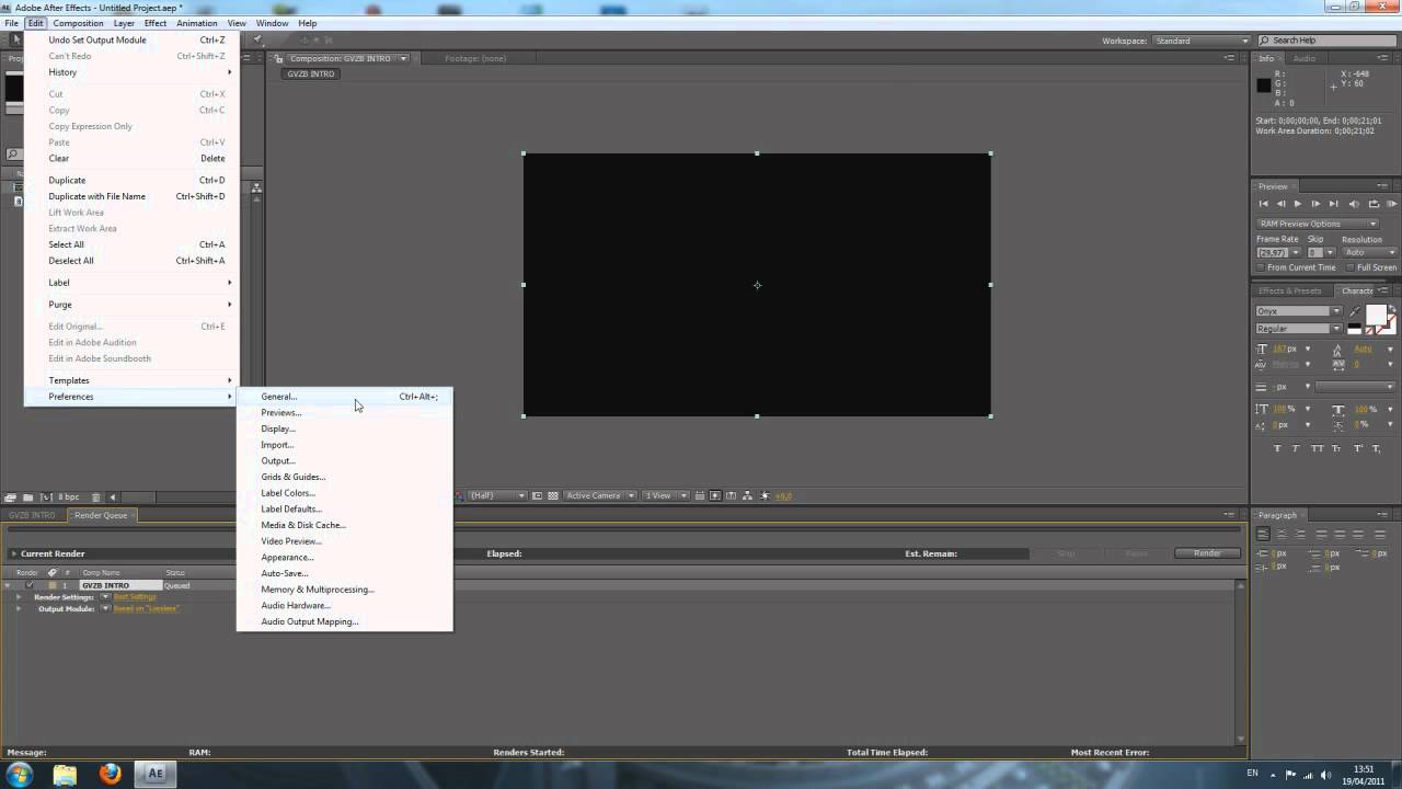 Adobe After Effects Cs4 Tutorial Rendering Your Composition In