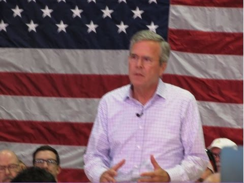 Jeb Bush Presidential Campaign Speech Questions in North Las Vegas  8/12/ 2015 Part 1