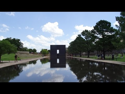 Oklahoma City National Memorial on former site of Alfred P. Murrah Federal Building 2015-07-05