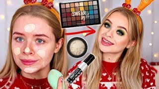 TESTING NEW MAKEUP!! CHRISTMAS GLOW UP GRWM   sophdoesnails