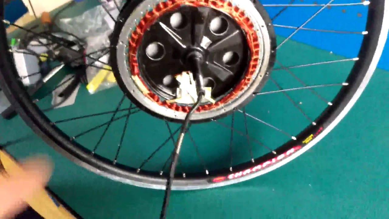 disassembly hub motor wheel electric bike - YouTube