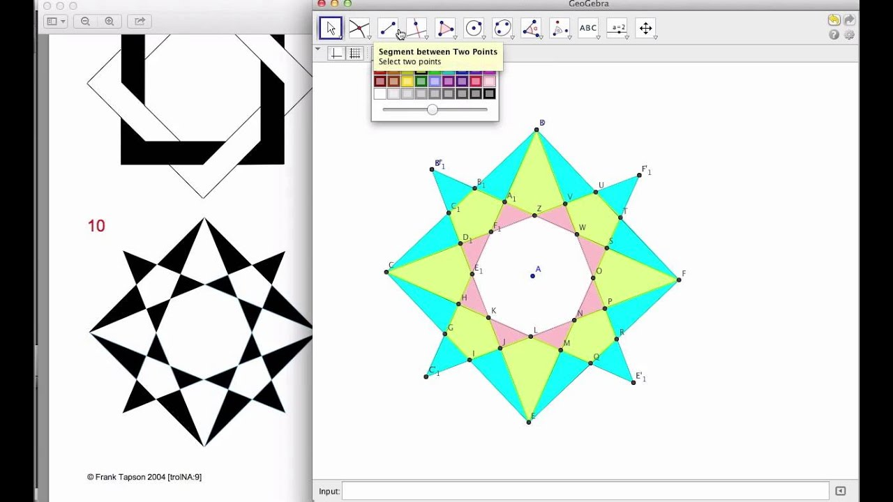 8-Pointed Star Tessellation in Geogebra Design Two