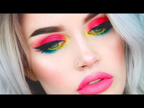 BRIGHT + COLORFUL SPRING MAKEUP GRWM | atleeeey