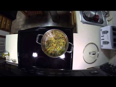 How we make White Chicken Chili Part 1 (real time video)