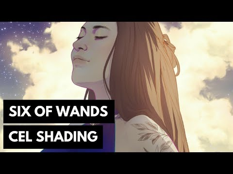Six Of Wands Cel Shading In Photoshop