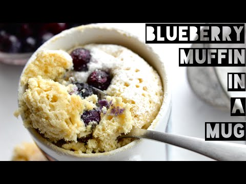 Healthy Blueberry Muffin In A Mug Recipe | How To Make A Protein Blueberry Muffin Mug Cake