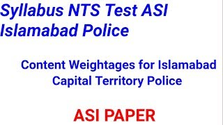 Islamabad police asi jobs in 2019