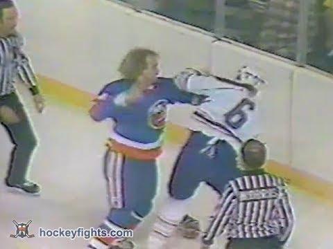 Bob Nystrom vs Jim Schoenfeld Oct 26, 1980