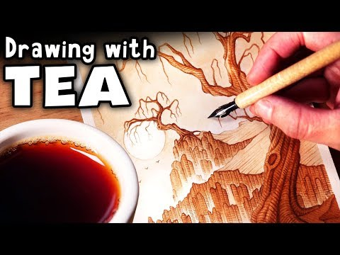 Drawing With TEA For The FIRST TIME