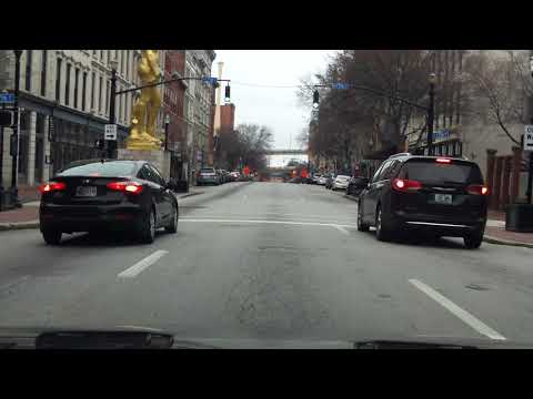 Driving Through Downtown Louisville, KY - City Streets Tour (Part 2/2)