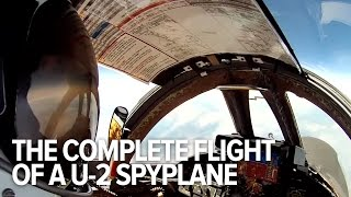 Watch the flight of a U-2 spyplane from beginning to end