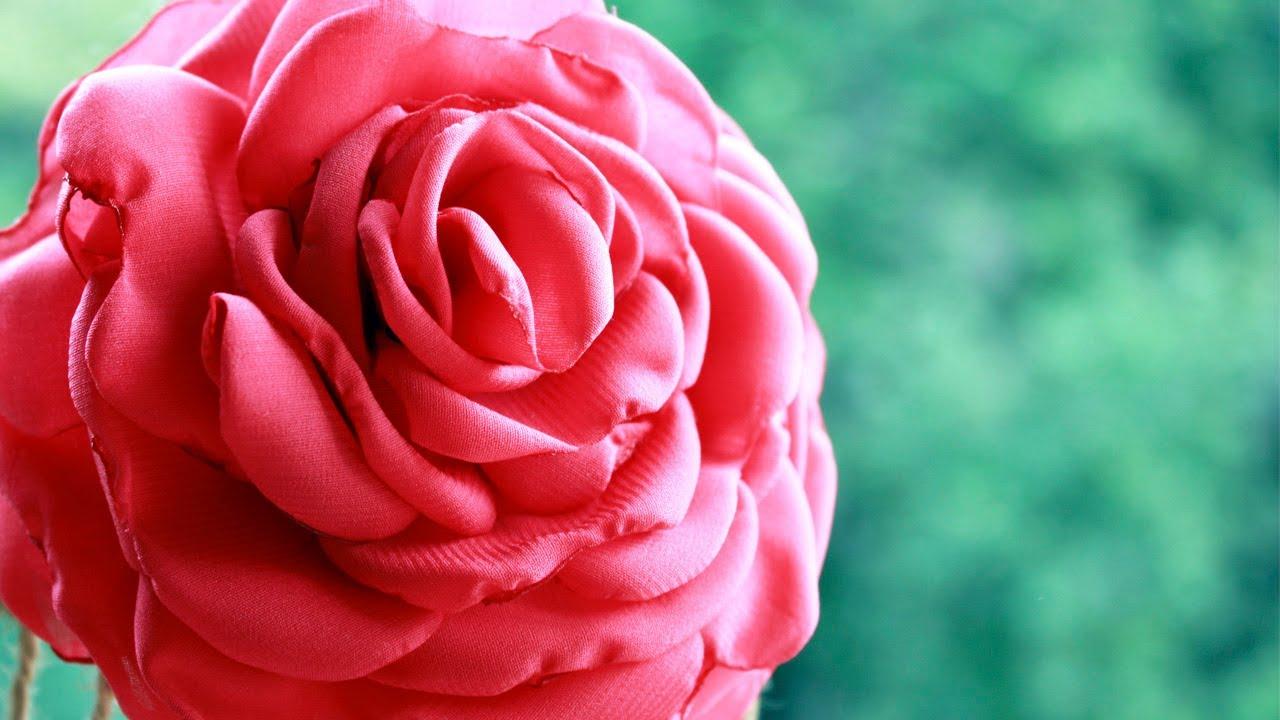 Роза из банта своими руками 868