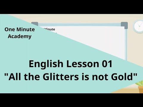 all that glitters is not gold sentence