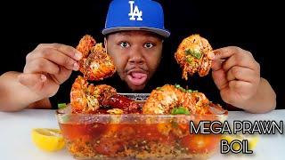 MEGA PRAWN SHRIMP BOIL  CORN + SAUSAGES + BOILED EGGS  DIPPIN DASH BUTTER SAUCE