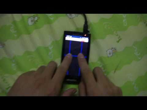 Multitouch Test on Xperia X10 with Android 2 1,Eclair Update Video Hands On Exclusive