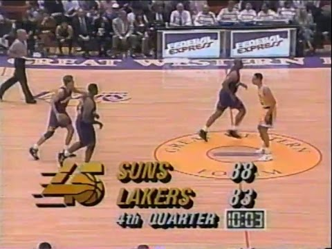 Phoenix Suns @ LA Lakers - Rd 1, Gm 3, 1993 NBA Playoffs - 5/4/93 (STARTING IN 4TH QTR)