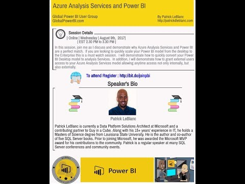 Azure Analysis Services and Power BI By Patrick LeBlanc