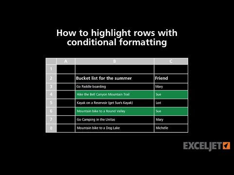 How to highlight rows with conditional formatting