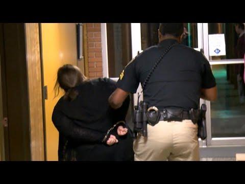 Teacher Screams as She's Handcuffed and Dragged fom School Meeting
