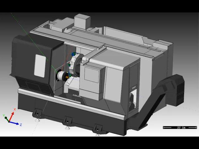 Machine Simulation on a Haas ST 20Y