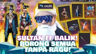 SULTAN FREE FIRE NGABISIN TOTAL 4 MILYAR UNTUK TOP GLOBAL BADGE 2 TAHUN !!