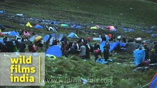 Temporary township of devotee en route Homkund - Nanda Devi Raj Jat Yatra