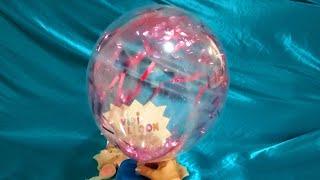 INFLATING AND DEFLATING FUN PINK CONFETTI BALLOONS!!!