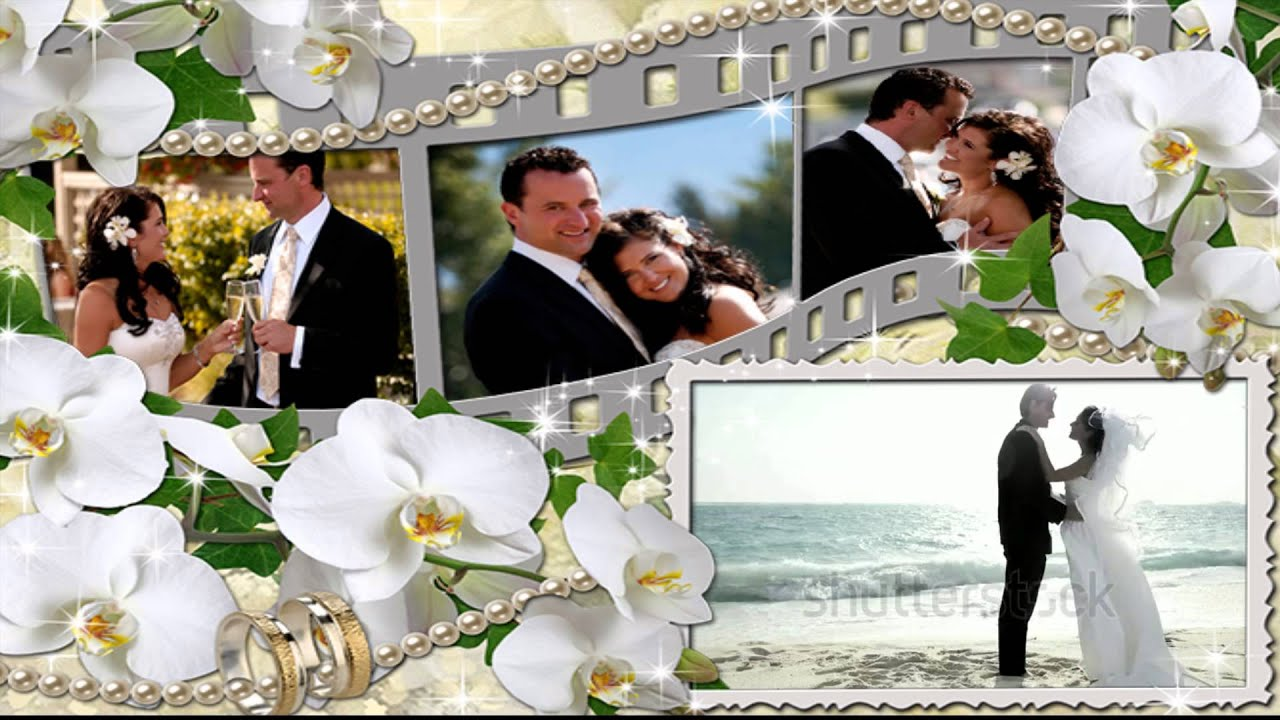 Personalized Film Wedding Frame Video Greeting Card - YouTube