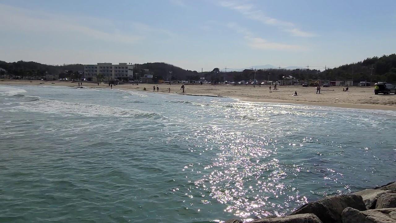 45초 설악해변을 바라보기.. (물멍)