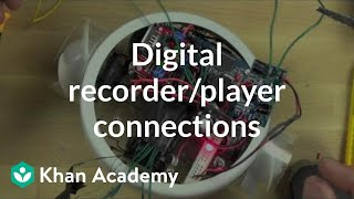 Hacking and attaching a digital recorder/player