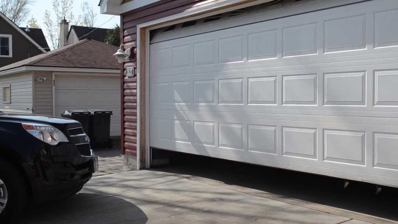 Broken Garage Door Spring Reliable Garage Door Youtube