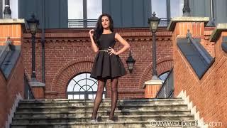 Super Legs 23 - Fashion Black Mini Dress , Black Pantyhose , High Heels  , 緊身衣
