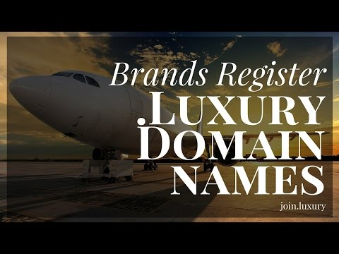 Brands begin to register .luxury domain names
