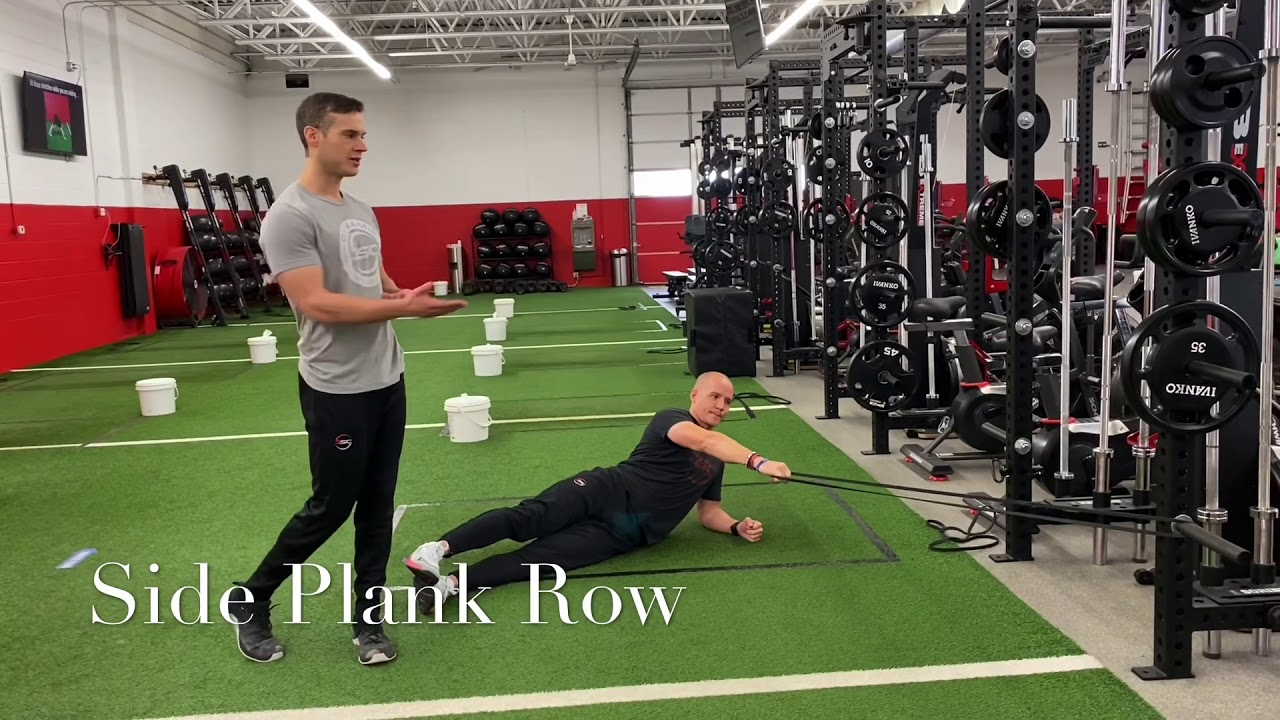 Side Plank Row
