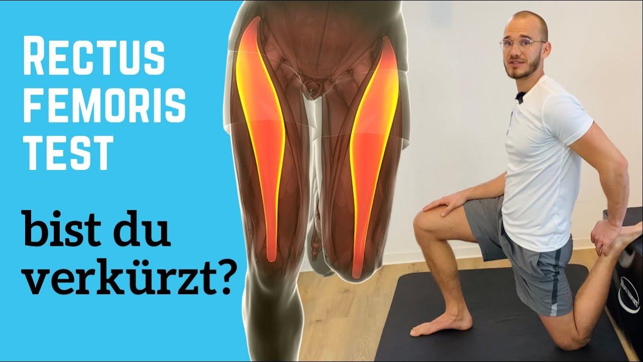 Rectus Femoris Test bei Knieschmerzen - Oberschenkel