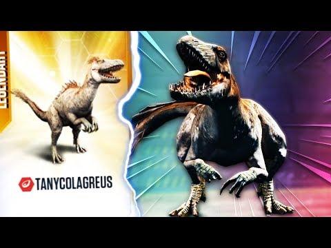 ŚWIECĄCY LEGENDARNY DINOZAUR TANYCOLAGREUS! | Jurassic World: The Game #18